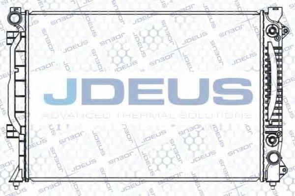 JDEUS 001M17 Радиатор, охлаждение двигателя