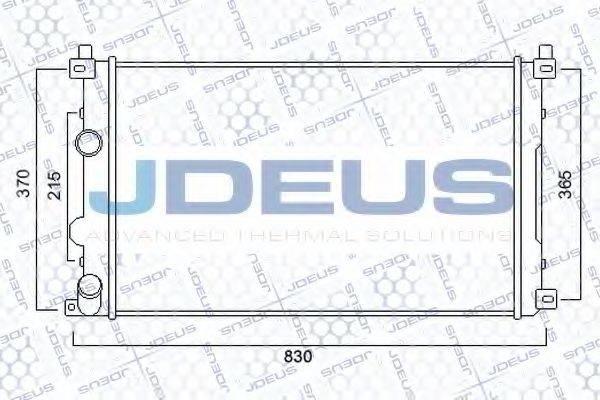 JDEUS 023M25 Радиатор, охлаждение двигателя