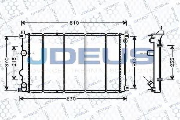 JDEUS 023M27 Радиатор, охлаждение двигателя