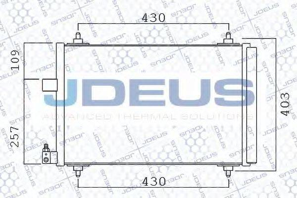JDEUS 721M39 Конденсатор, кондиционер