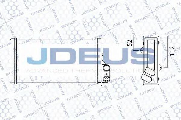 JDEUS 223M18 Теплообменник, отопление салона