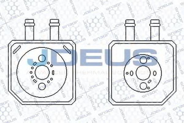 JDEUS 401M20 масляный радиатор, двигательное масло