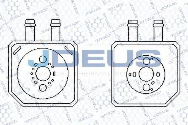 JDEUS 401M20A масляный радиатор, двигательное масло