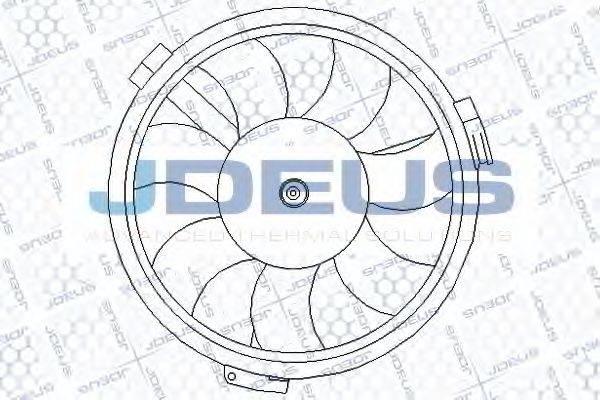 JDEUS EV010161 Вентилятор, охлаждение двигателя