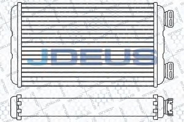 JDEUS 223M26 Теплообменник, отопление салона