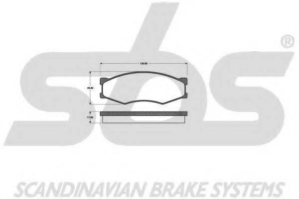 SBS 1501222212 Комплект тормозных колодок, дисковый тормоз