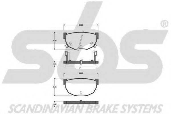 SBS 1501222225 Комплект тормозных колодок, дисковый тормоз