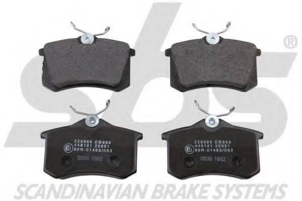 SBS 1501229986 Комплект тормозных колодок, дисковый тормоз