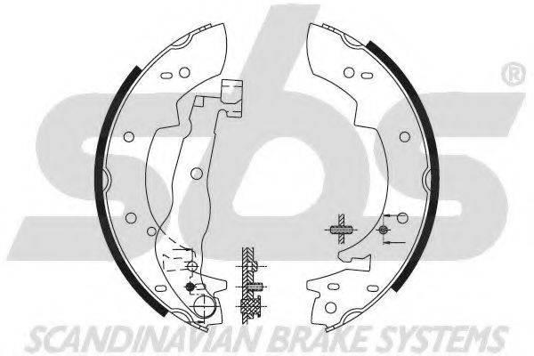 SBS 18492799307 Комплект тормозных колодок
