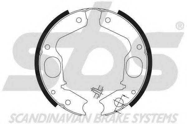 SBS 18492730645 Комплект тормозных колодок, стояночная тормозная система