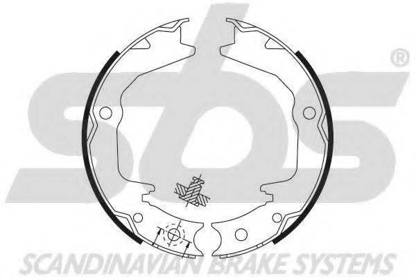SBS 18492730674 Комплект тормозных колодок, стояночная тормозная система