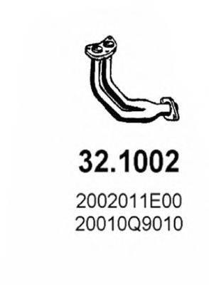 ASSO 321002 Труба выхлопного газа