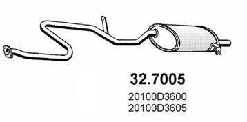 ASSO 327005 Глушитель выхлопных газов конечный