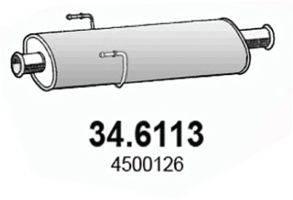 ASSO 346113 Средний глушитель выхлопных газов