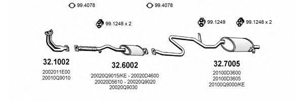 ASSO ART1559 Система выпуска ОГ