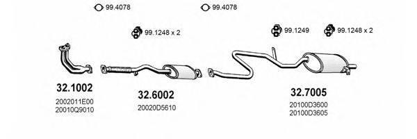ASSO ART1560 Система выпуска ОГ