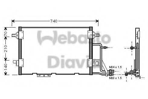 WEBASTO 82D0225455A Конденсатор, кондиционер