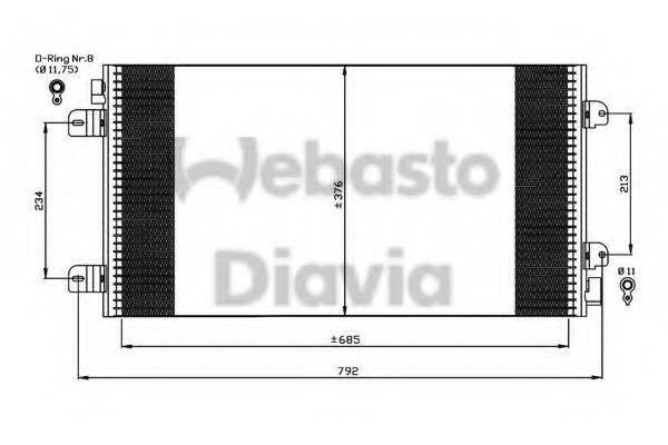WEBASTO 82D0225534A Конденсатор, кондиционер