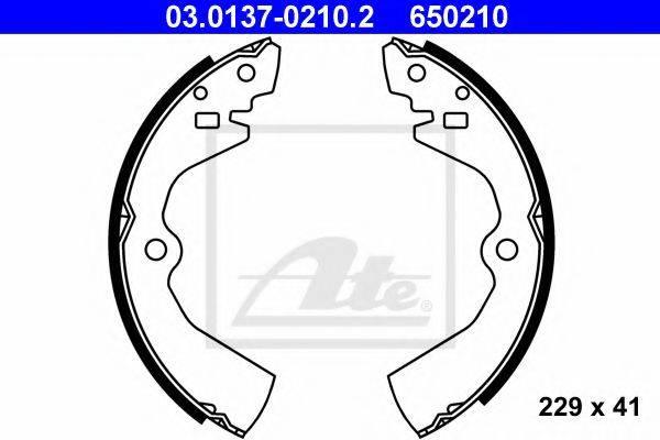 ATE 03013702102 Комплект тормозных колодок
