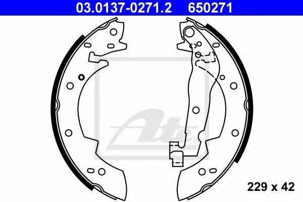 ATE 03013702712 Комплект тормозных колодок