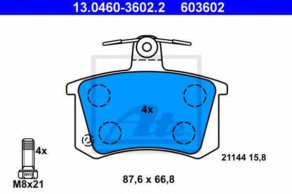 ATE 13046036022 Комплект тормозных колодок, дисковый тормоз
