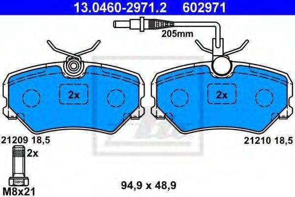 ATE 13046029712 Комплект тормозных колодок, дисковый тормоз