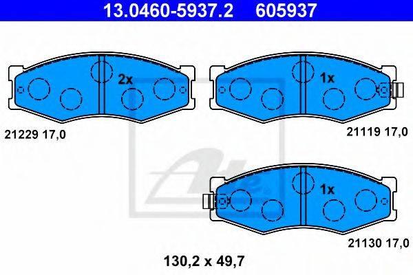 ATE 13046059372 Комплект тормозных колодок, дисковый тормоз