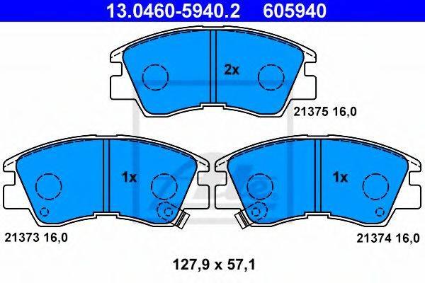 ATE 13046059402 Комплект тормозных колодок, дисковый тормоз