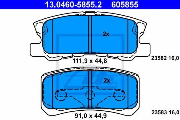 ATE 13046058552 Комплект тормозных колодок, дисковый тормоз