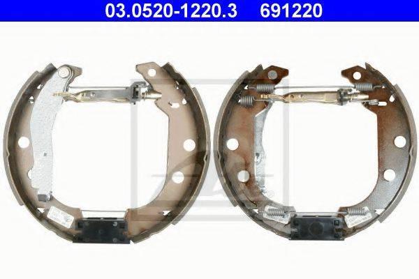 ATE 03052012203 Комплект тормозных колодок