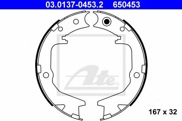 ATE 03013704532 Комплект тормозных колодок, стояночная тормозная система