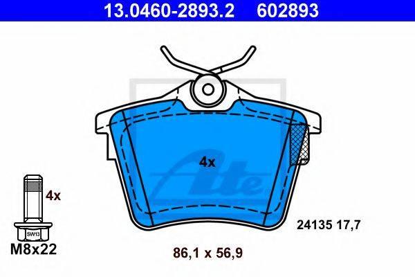 ATE 13046028932 Комплект тормозных колодок, дисковый тормоз
