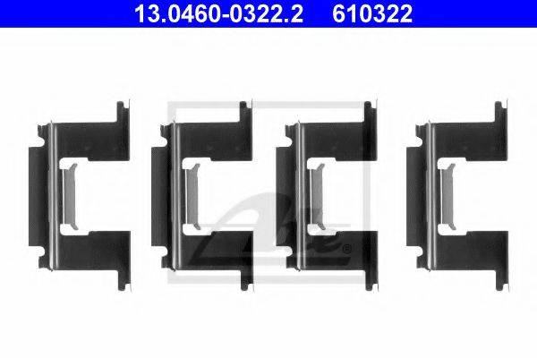 ATE 13046003222 Комплектующие, колодки дискового тормоза