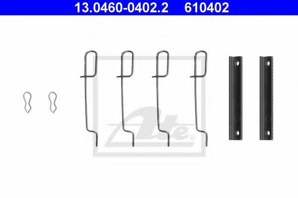 ATE 13046004022 Комплектующие, колодки дискового тормоза