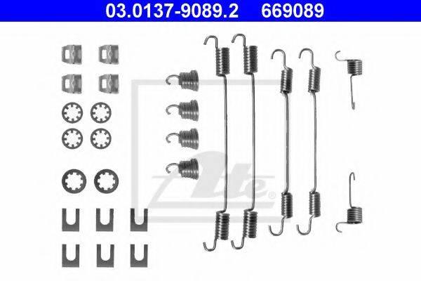 ATE 03013790892 Комплектующие, тормозная колодка