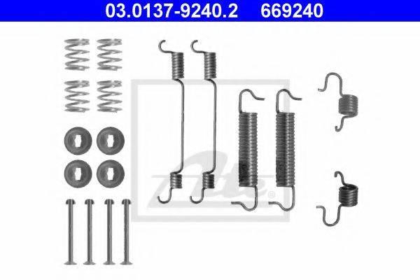 ATE 03013792402 Комплектующие, тормозная колодка
