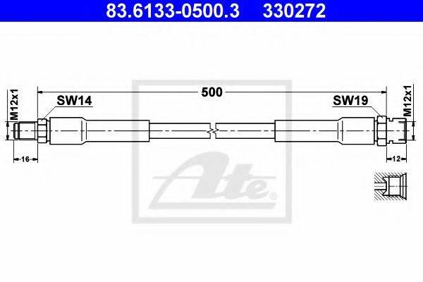 Тормозной шланг ATE 83.6133-0500.3