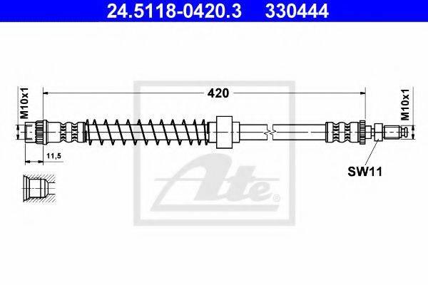 ATE 24511804203 Тормозной шланг