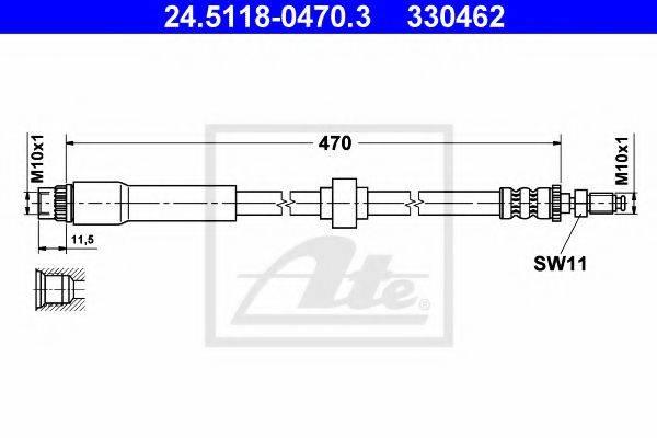 ATE 24511804703 Тормозной шланг