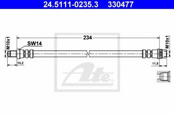 ATE 24511102353 Тормозной шланг