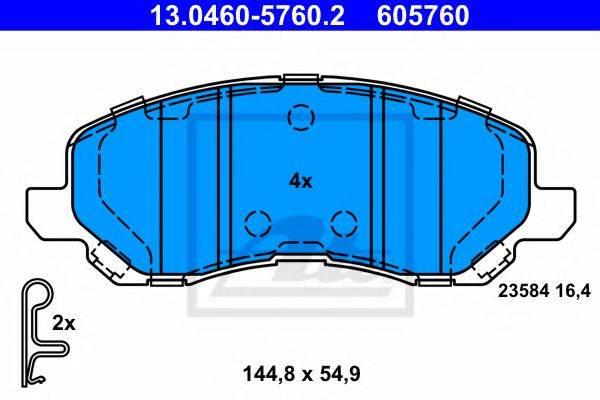 ATE 13046057602 Комплект тормозных колодок, дисковый тормоз