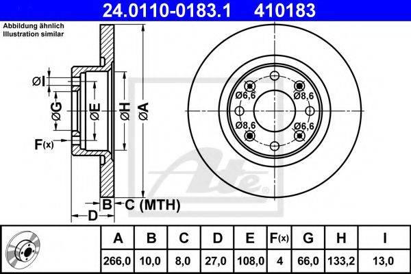 ATE 24011001831 Тормозной диск