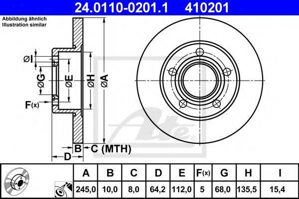 ATE 24011002011 Тормозной диск