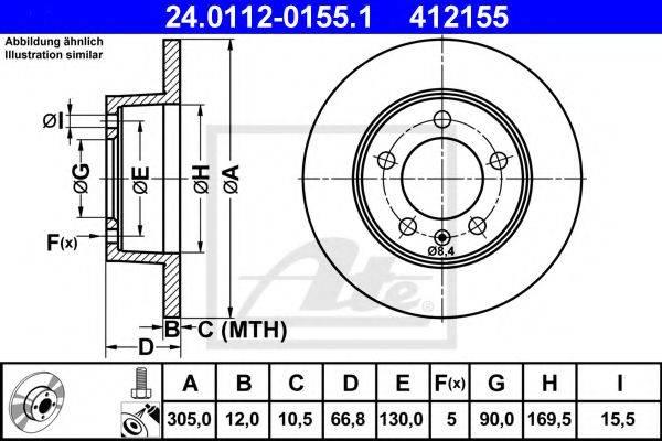 ATE 24011201551 Тормозной диск