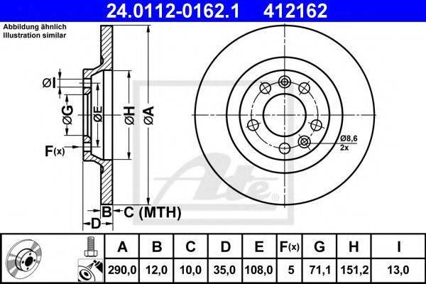 ATE 24011201621 Тормозной диск