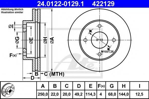 ATE 24012201291 Тормозной диск