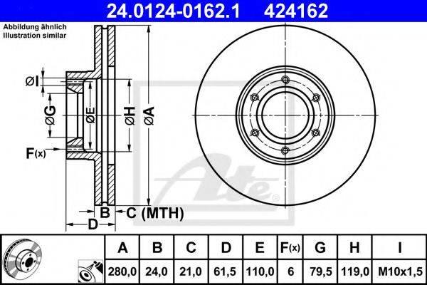 ATE 24012401621 Тормозной диск
