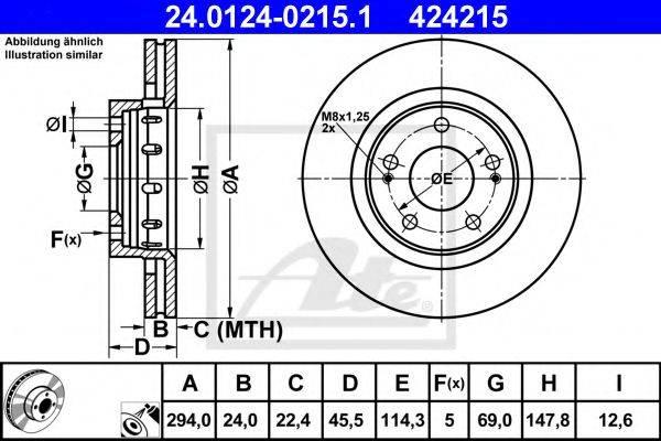 ATE 24012402151 Тормозной диск