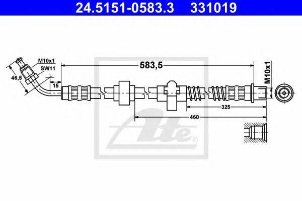 ATE 24515105833 Тормозной шланг