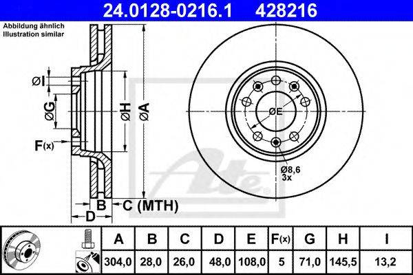 ATE 24012802161 Тормозной диск